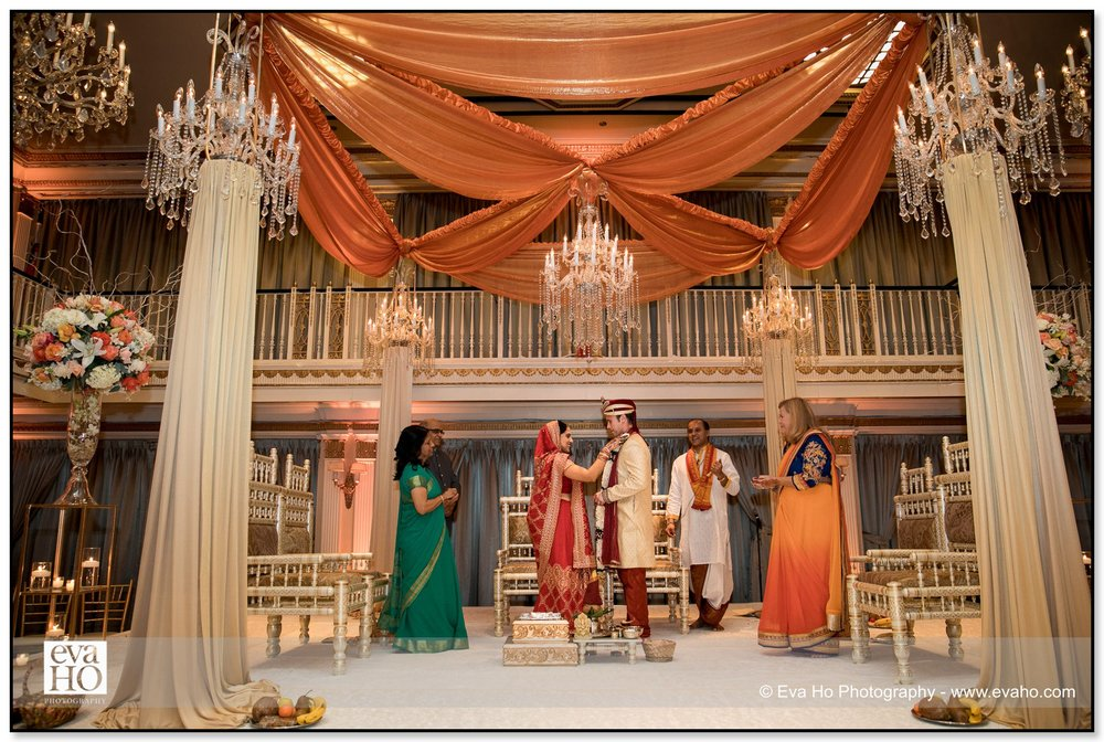 Indian fusion wedding ceremony at The Drake in downtown Chicago.