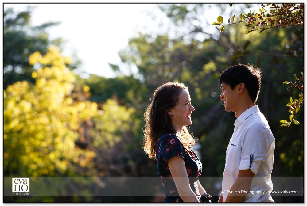 Montrose Harbor engagement session in the late summer