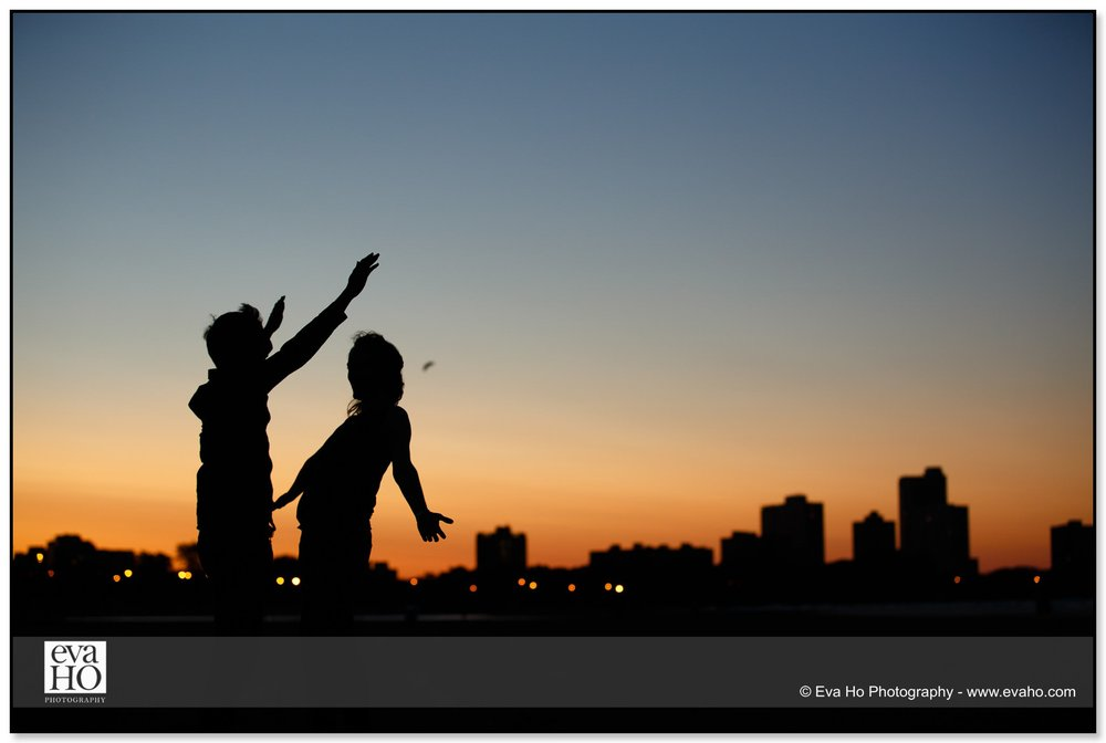 Sunset dancing portrait of a couple in Chicago