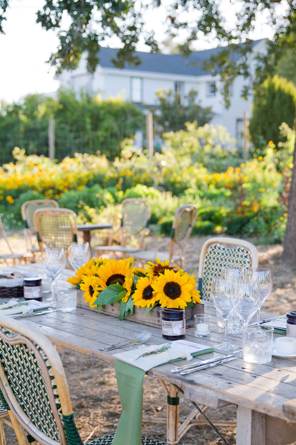 Al fresco dining at the farm with french flair. | 5th Street Farm • chateausonoma.com