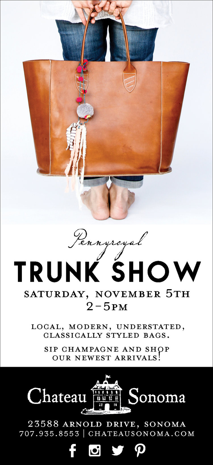 Pennyroyal Trunk Show at Chateau Sonoma