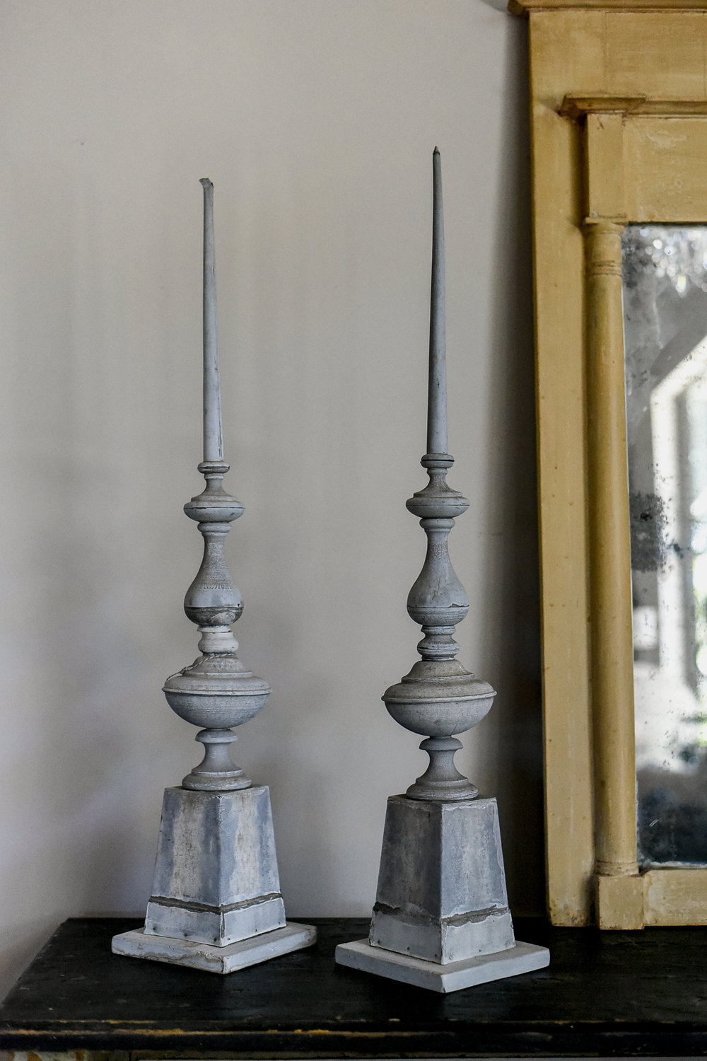 Antique Zinc Finials