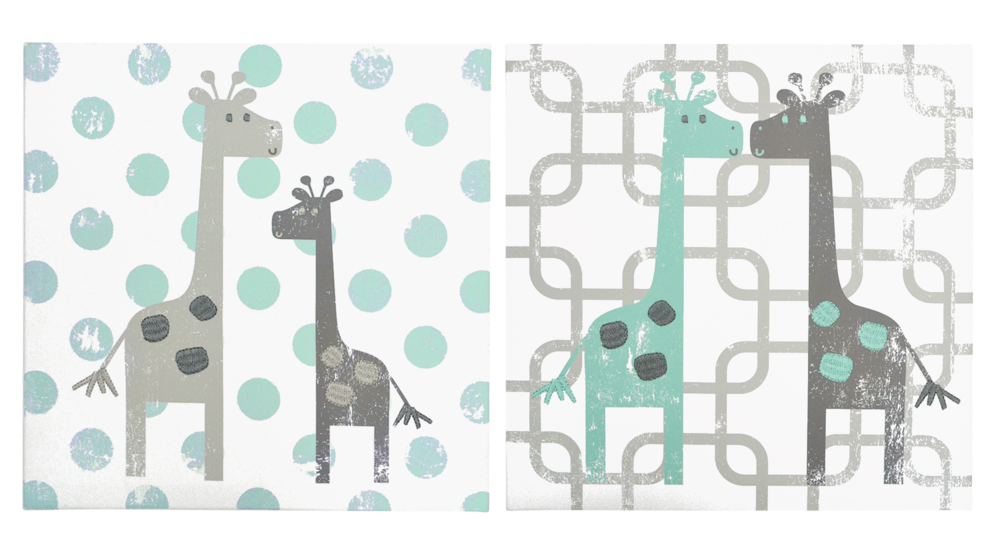 Uptown Giraffe Canvas Art by The Peanut Shell