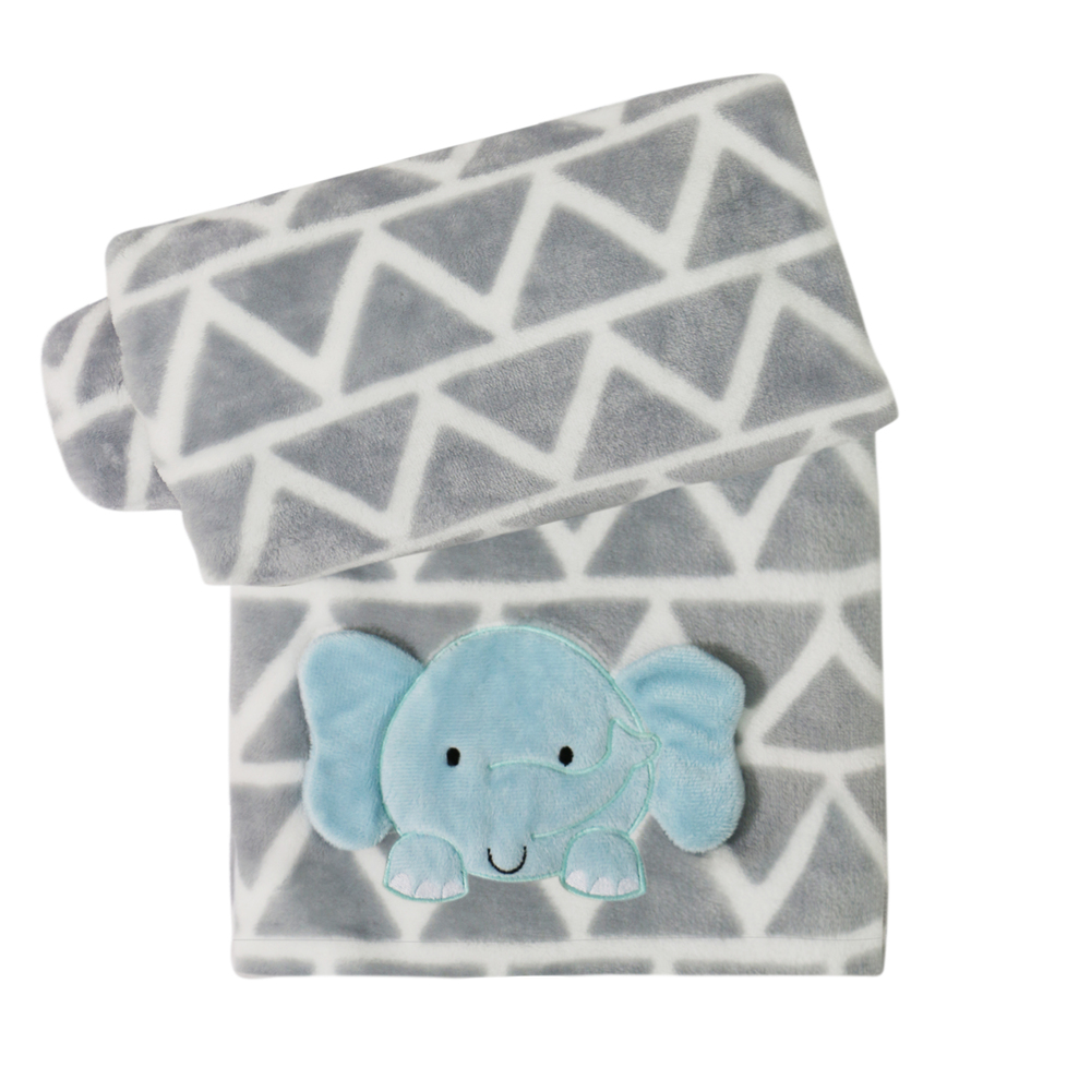 Belle Printed Grey Boa Blanket with Elephant Applique.jpg