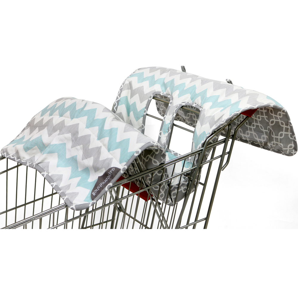 PS Shopping Cart Cover -- Grey  Chevron.jpg