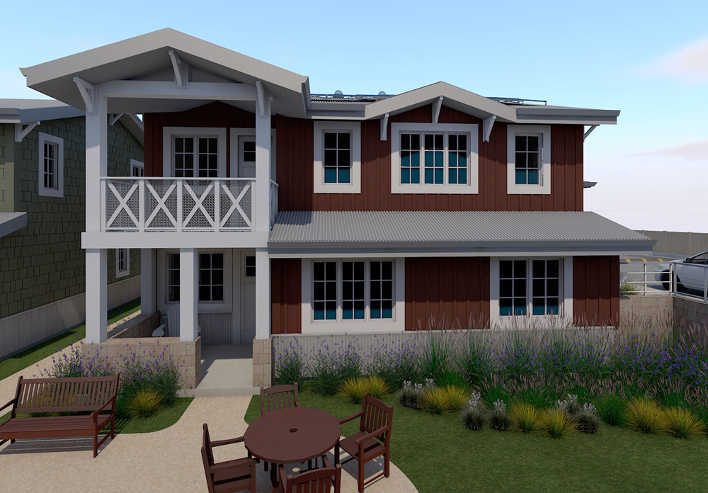 Model D   3 BED · 2.5 BATH · 1571 SF MAIN UNIT 1 BED · 1 BATH · 632 SF AUXILLARY UNIT 2 CAR GARAGE • 441 SF