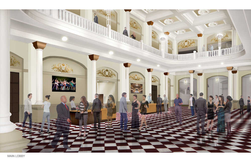 Rendering of the revitalizaed Grand Foyer