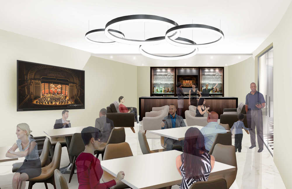 Rendering of the Audience Lounge