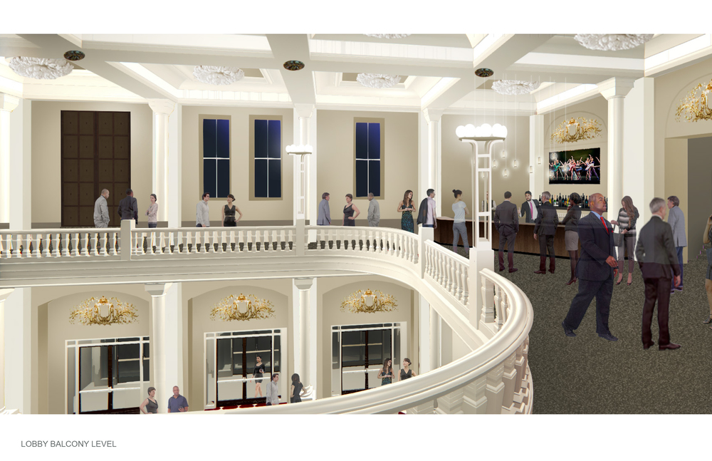 Rendering of the Balcony