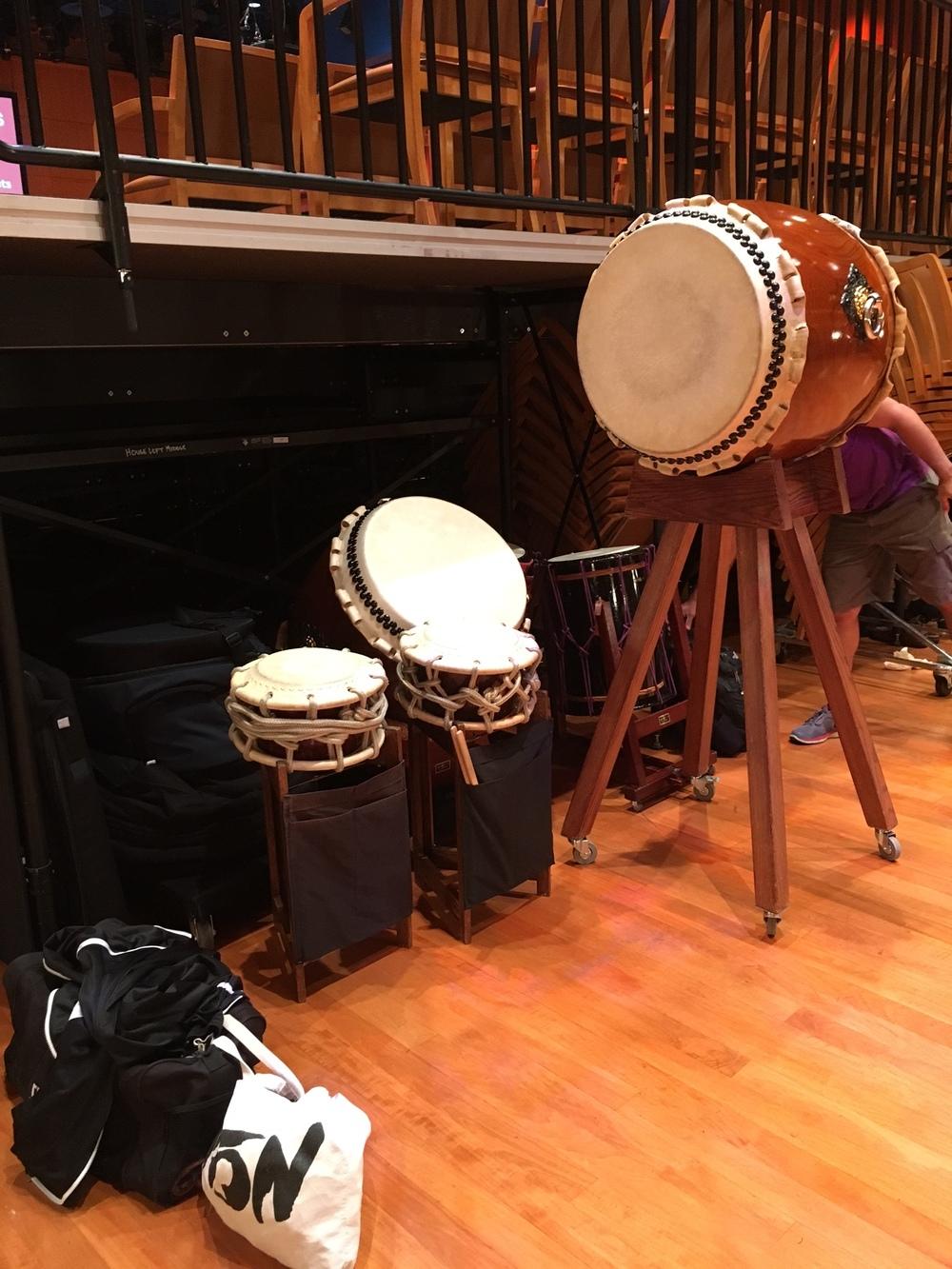 Drums chilling backstage.