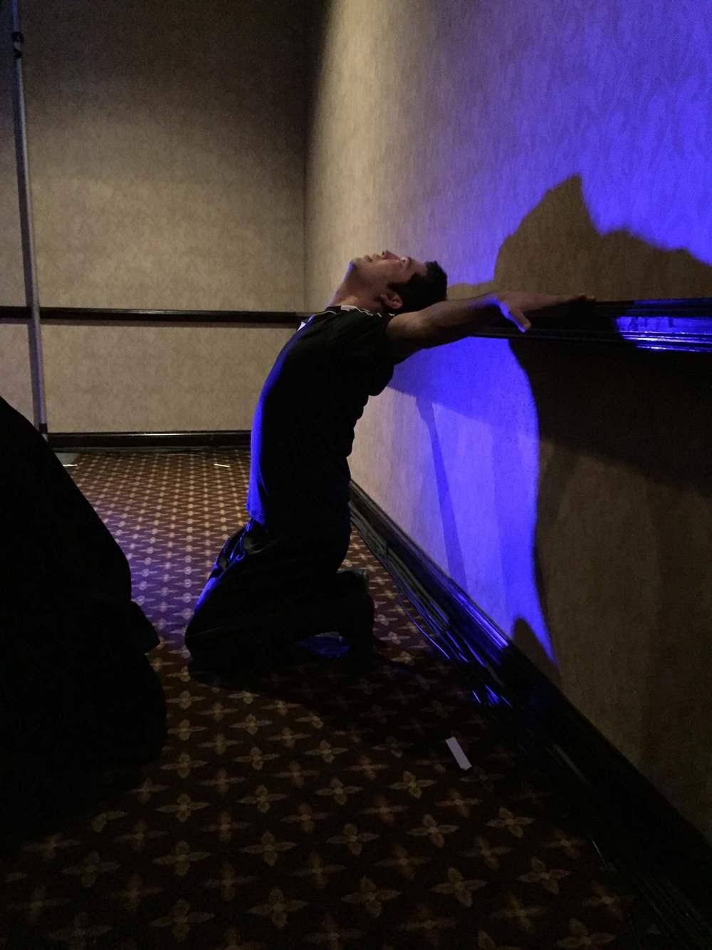 Doug was GETTING. HIS. LIFE. backstage!!!!!!! WORK.
