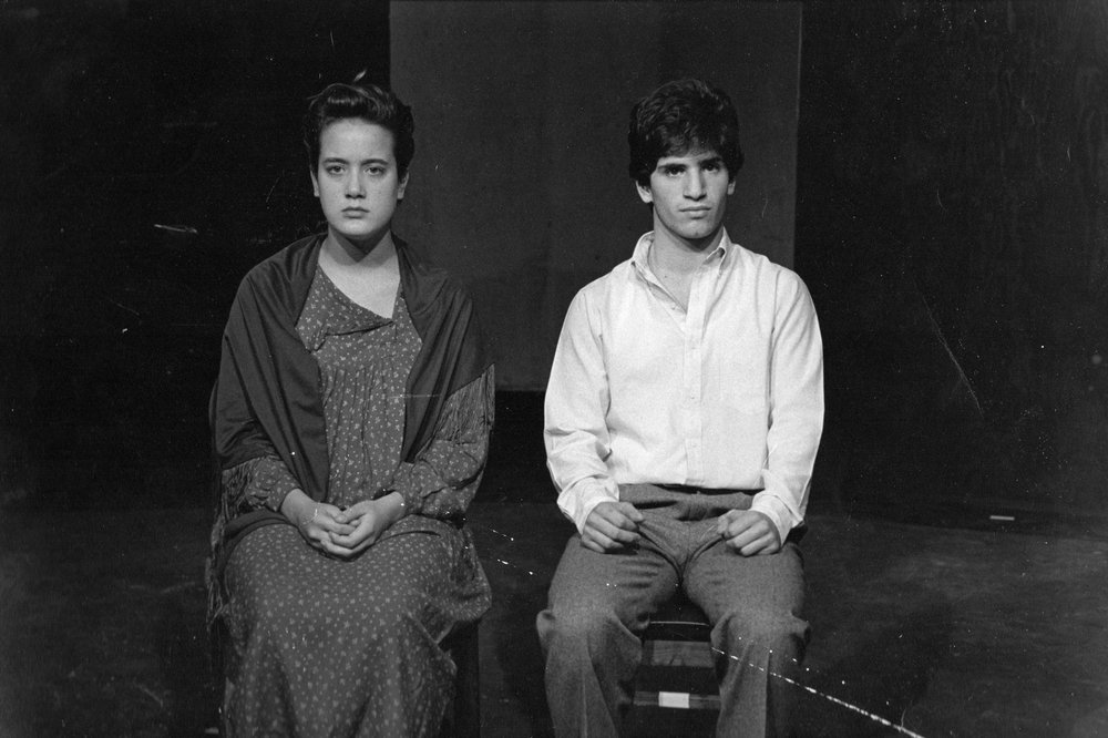That's me on the left (obvi) in an original play, my senior year in high school.