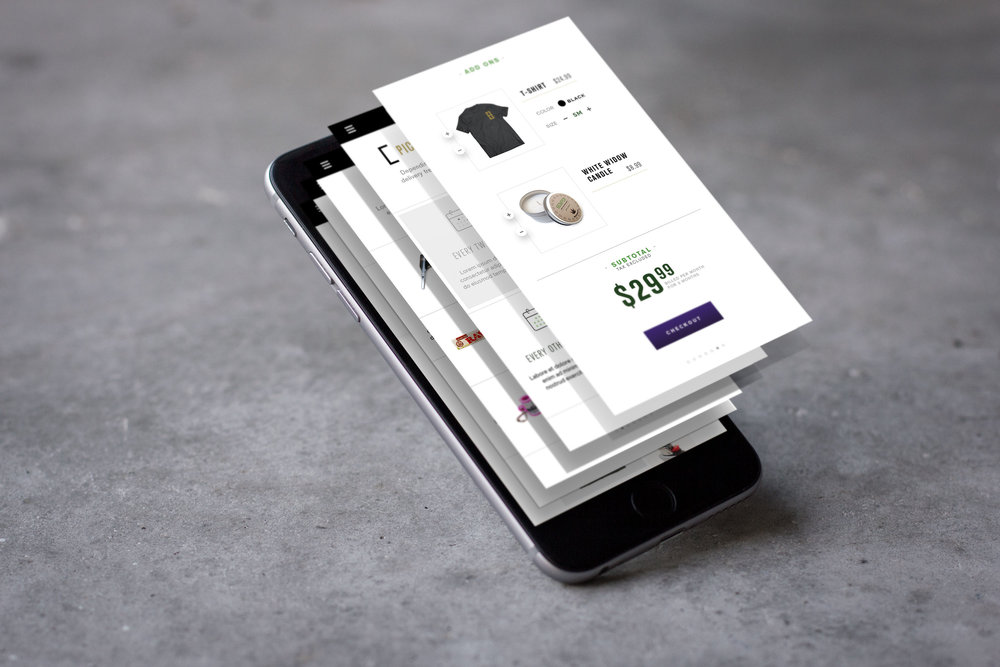 Strong UX/UI considered for responsive e-commerce design.