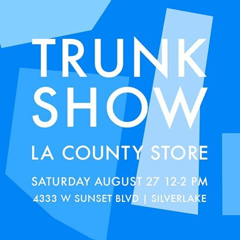 Today's the day!!! Come treat yo self and pop by my trunk show hosted by @lacountystore from 12-2pm! -  4333 W Sunset Blvd | Silverlake
