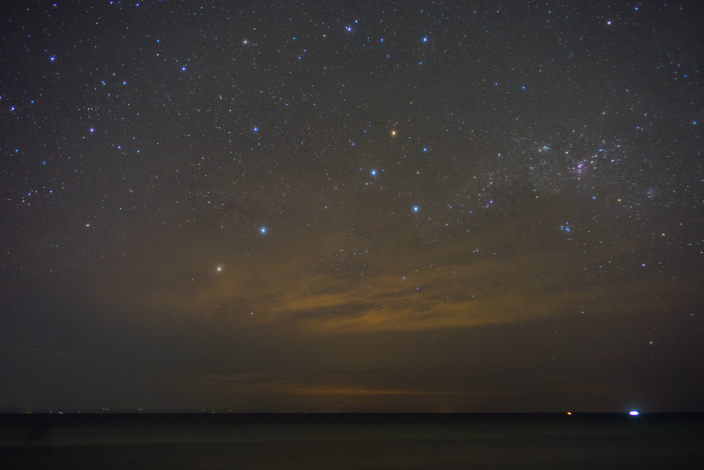 Stars as seen from southern Phillipines