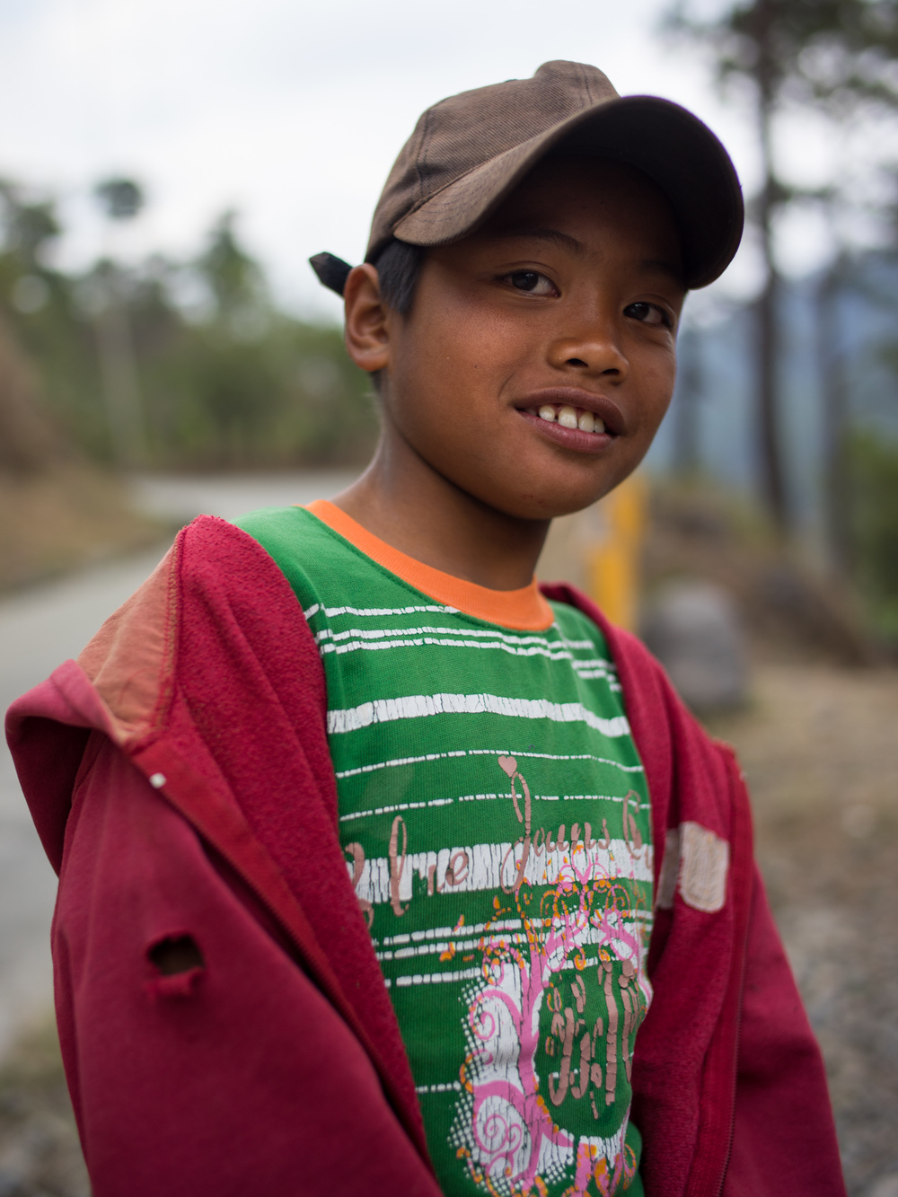 A filipino boy in a mountain village near Baguio