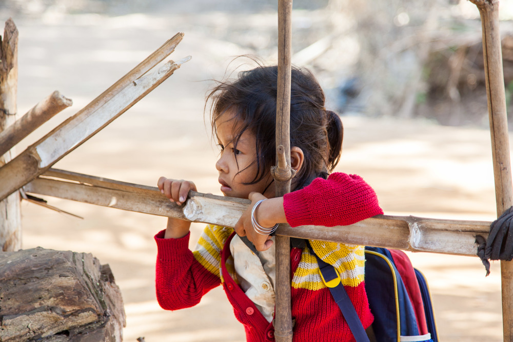 A cambodian school girl
