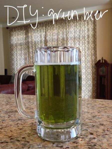 DIY Green Beer
