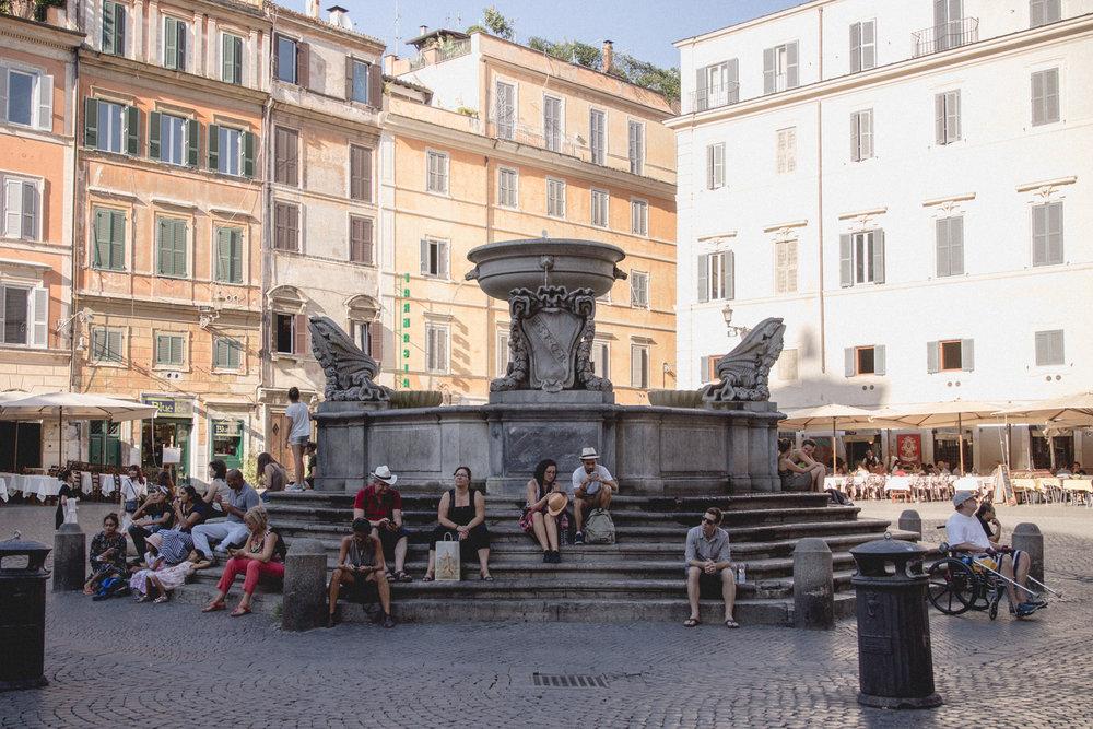 Fontana di piazza Santa Maria in Trastevere