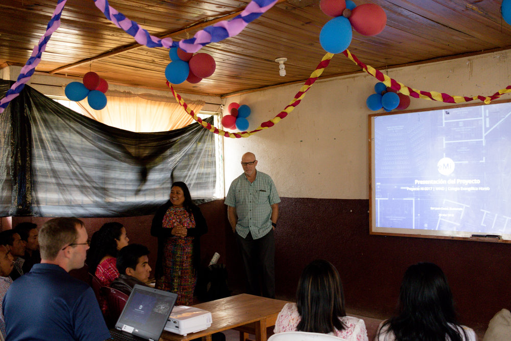 Here's a picture of Tabita (school director) and Rich (WIND) on the final day of the presentation.