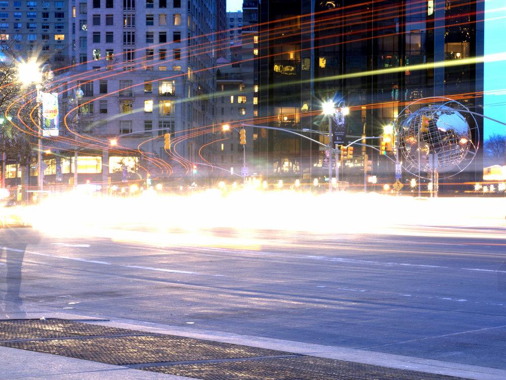 Columbus Circle at Dusk