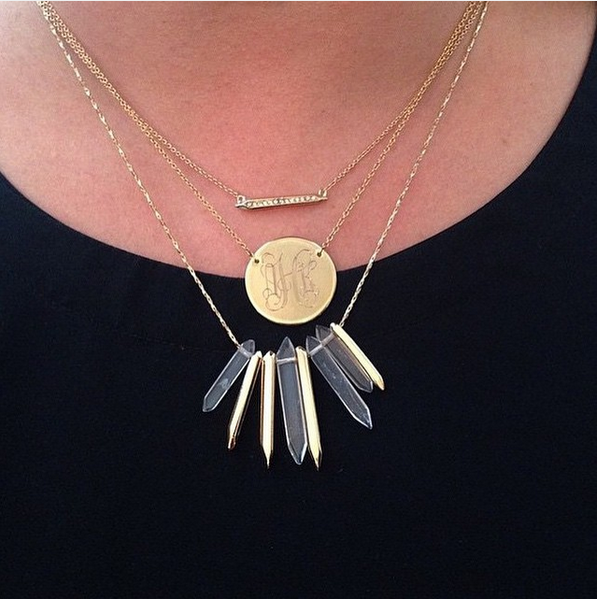 Delicate meets edgy in this mini statement necklace combo.
