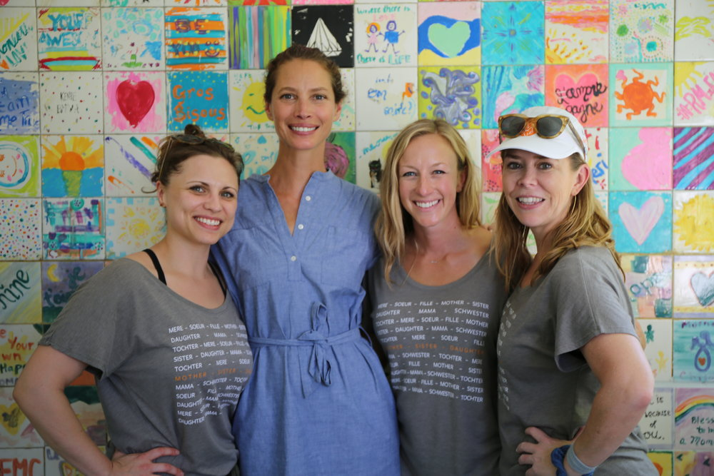 Every Mother Counts Founder Christy Turlington Burns with Emily Rini, Staci Klugh, and April Lopez