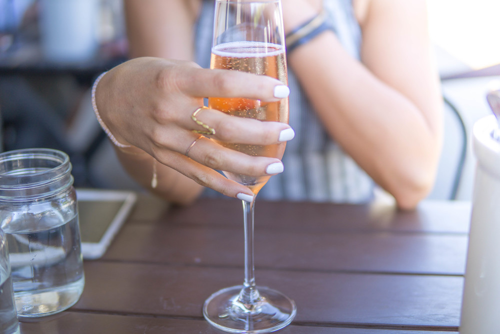 Sparkling rosè is made differently than still rosè