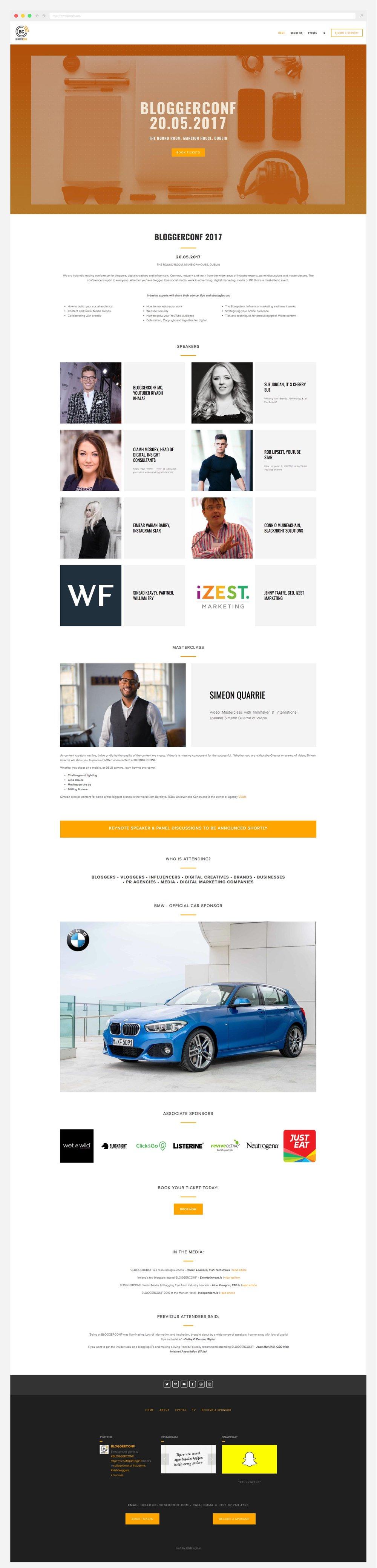 Bloggerconf website layout - DC Design
