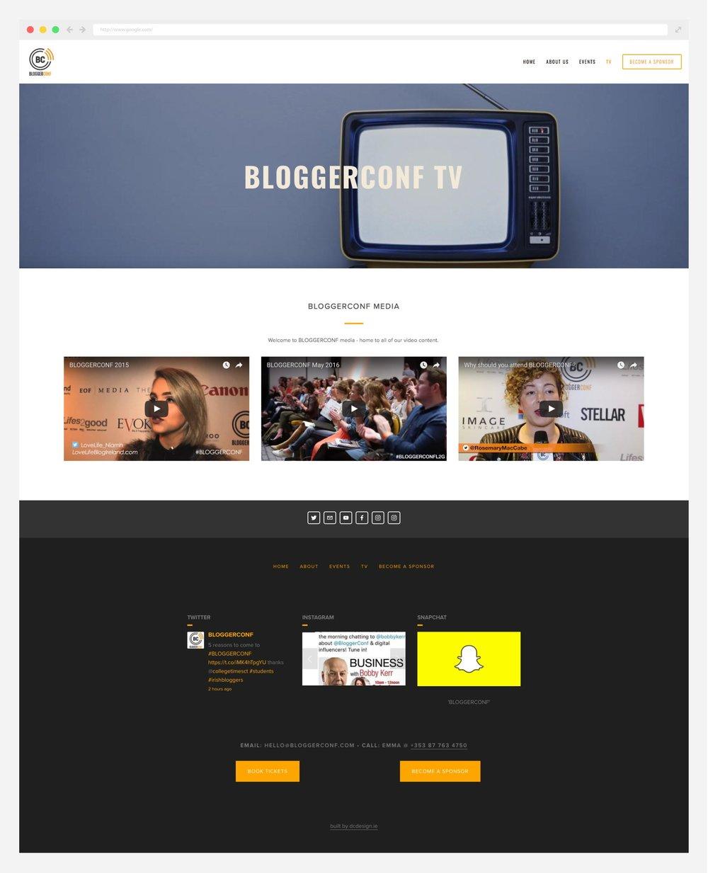 Bloggerconf website design - DC Design Dublin