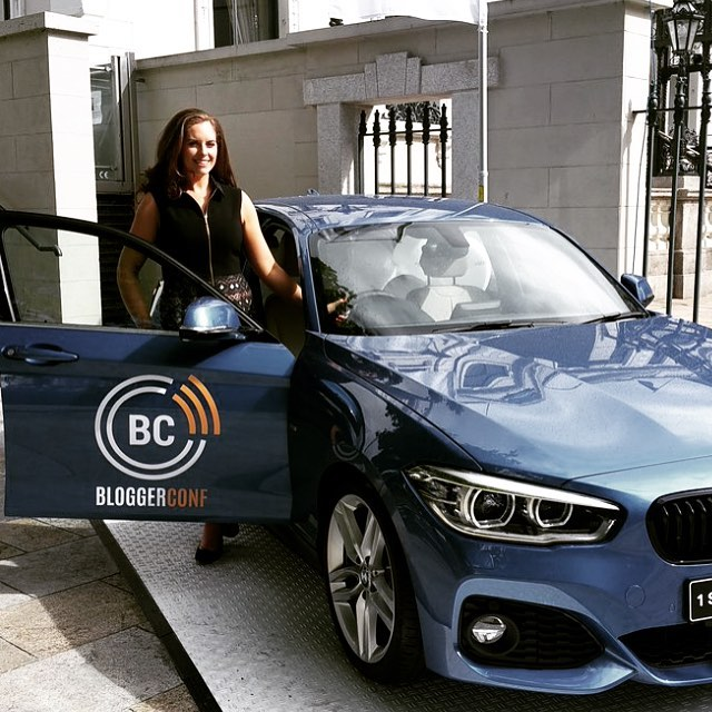 Always cool to see your logo work on such a beautiful car! #squarespacedesigner #logo #dcdesign #bloggerconf #bmw