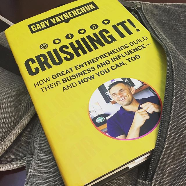 Food truckers... I know you're super busy, but squeeze in this read. Crushing It by @garyvee Trust me, I'm busy too, but I leave this book on my desk every day to remind me that I'm not f*ing busy enough. #crushit #crushingit