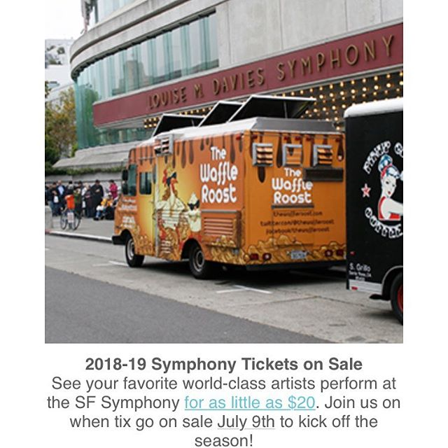 @thewaffleroost spotted in the @7x7bayarea newsletter. Symphony and #foodtrucks, why not?