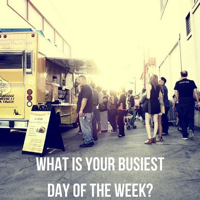 Happy Friday!! What is your busiest day of the week? #foodtruckbusiness #foodtrucks
