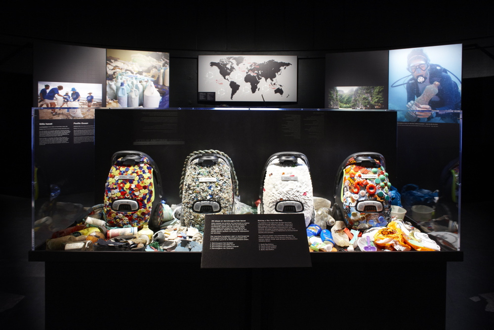 Picture from the Vac From The Sea Exhibits. Vacuums and plastic artefacts toured premium museums around the world. Including Da Vinci National Museum, Italy.