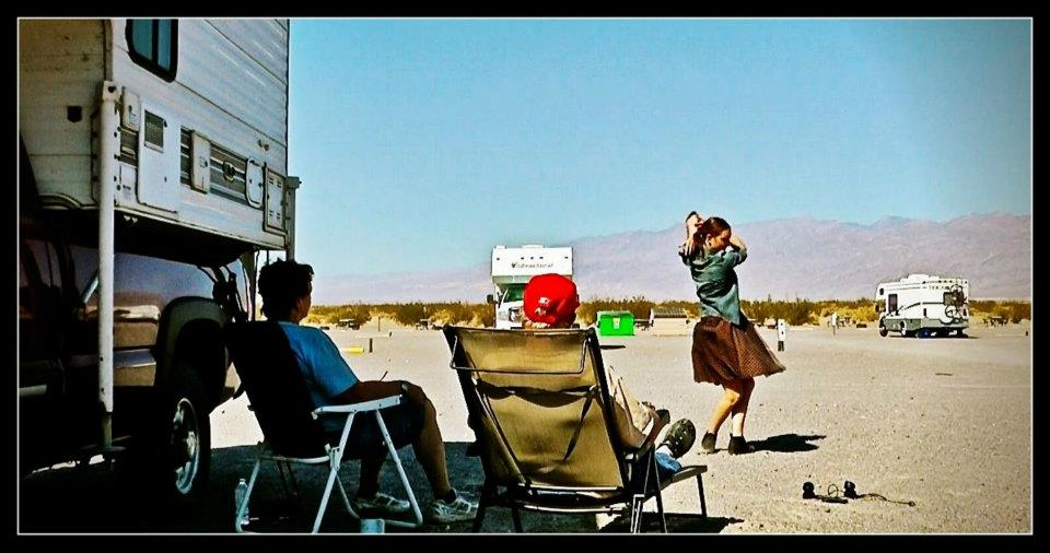 Solo Performance for Tom and Marilyn Rollins. Death Valley RV Park, California