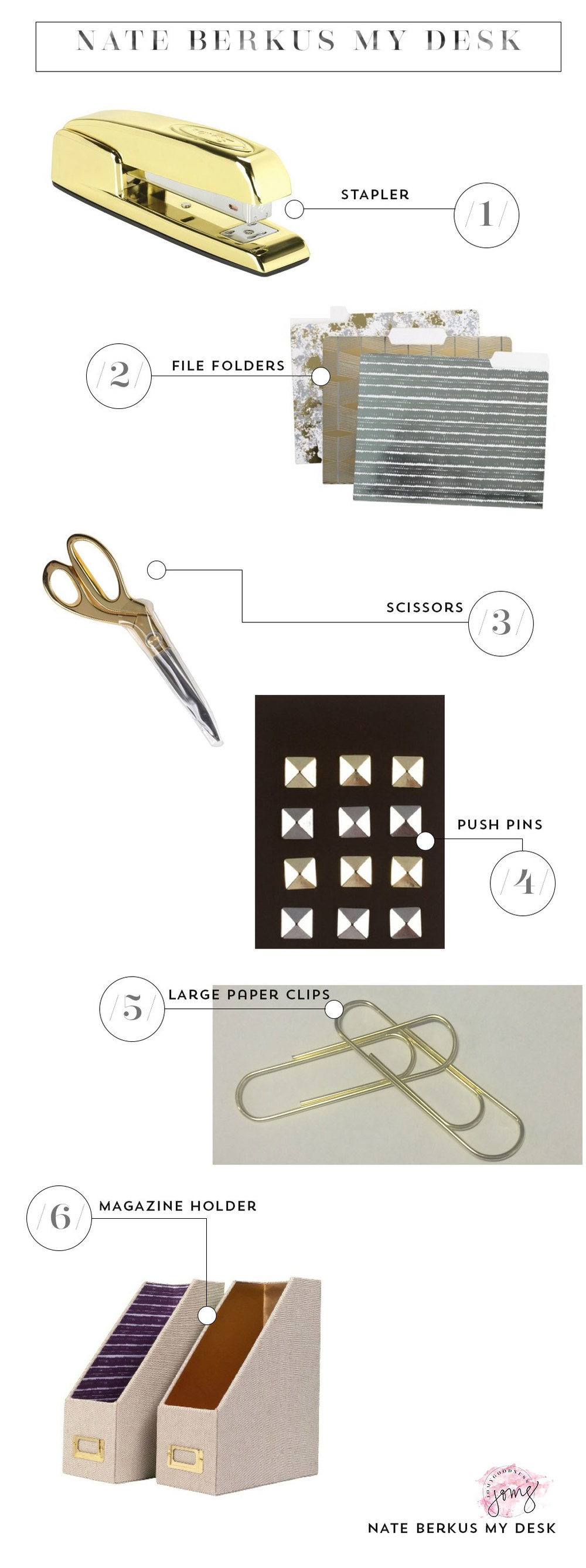 Nate Berkus office supplies