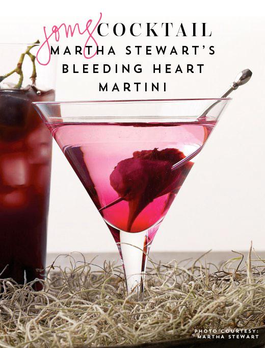 Bleeding Heart Martini by Martha Stewart