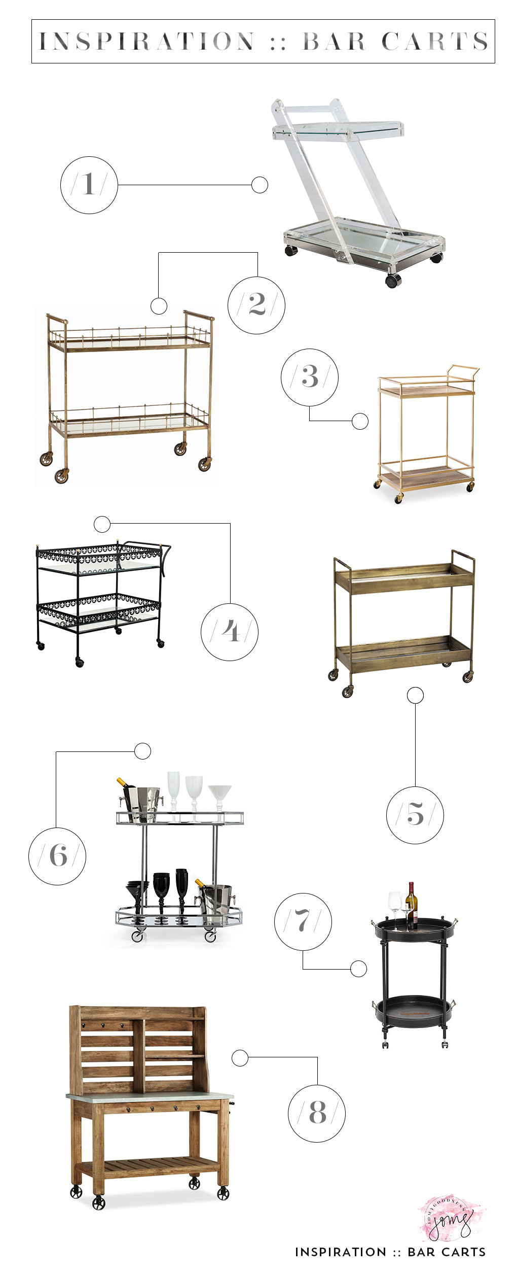 Bar Cart inspiration from Jomygoodness