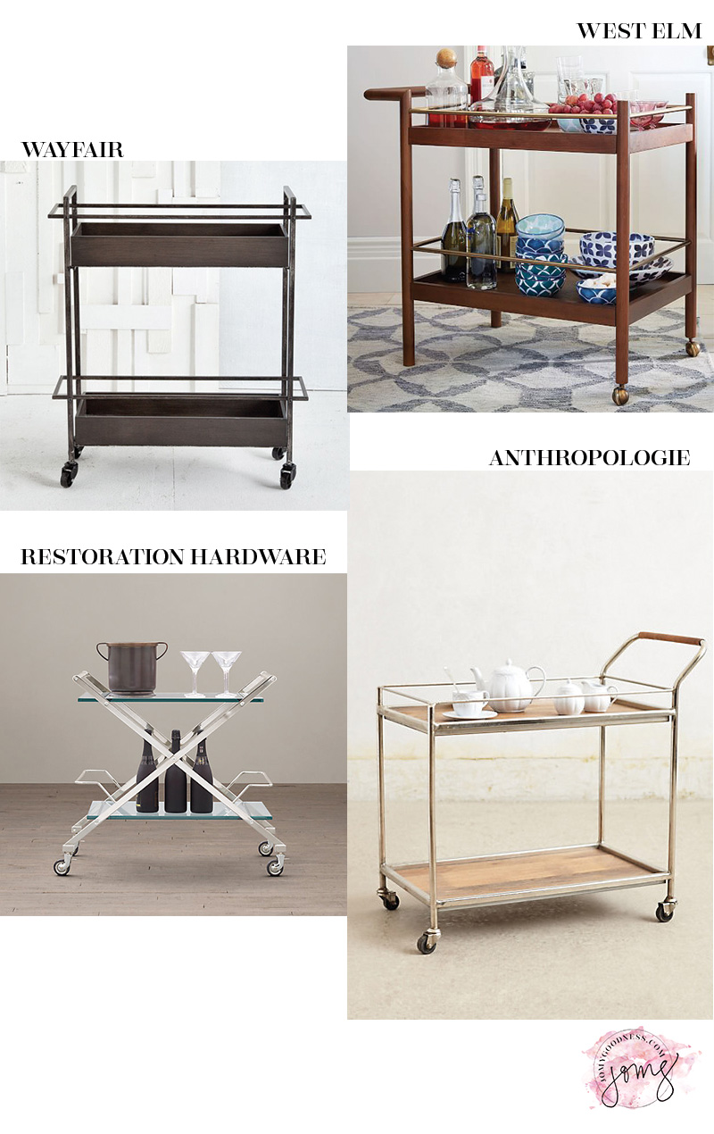 more bar cart inspiration from Jomygoodness