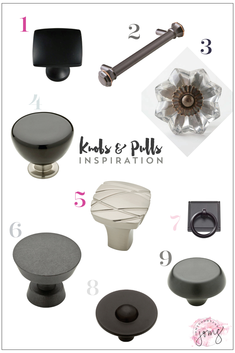 Knobs & Pulls Inspiration from Jomygoodness