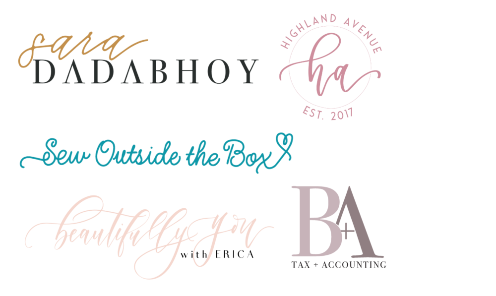 logos & branding - . My design aesthetic can be described as clean and modern.I love to incorporate hand lettering to make the designs uniquely personal for my clients.MY BRANDING WORK