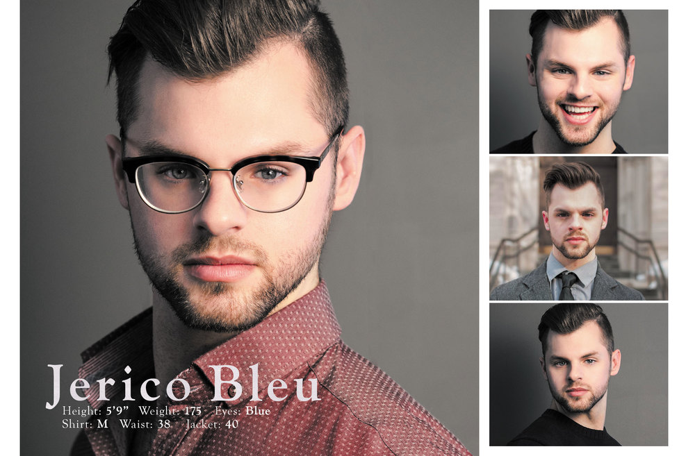 Comp cards for actors and models