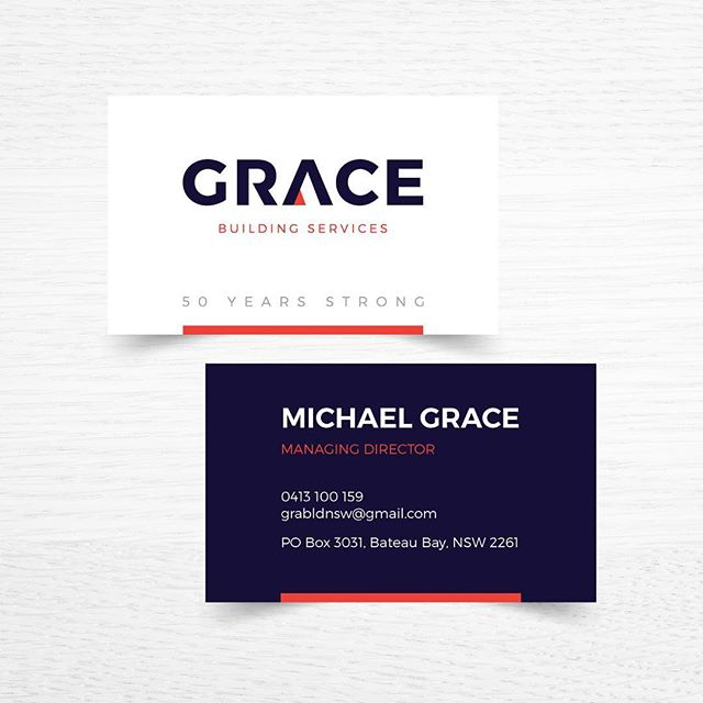 Flow Design #creativebranding #builder #logodesign #navy #red #grace #flowdesignbiz