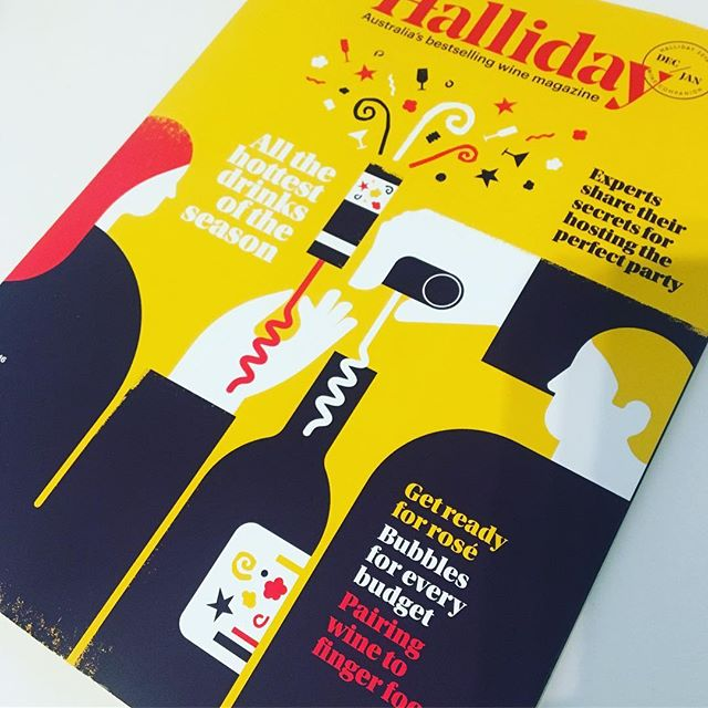 Design Inspiration #designinspiration #magazine #coverdesign #wine #halliday #flowdesignbiz