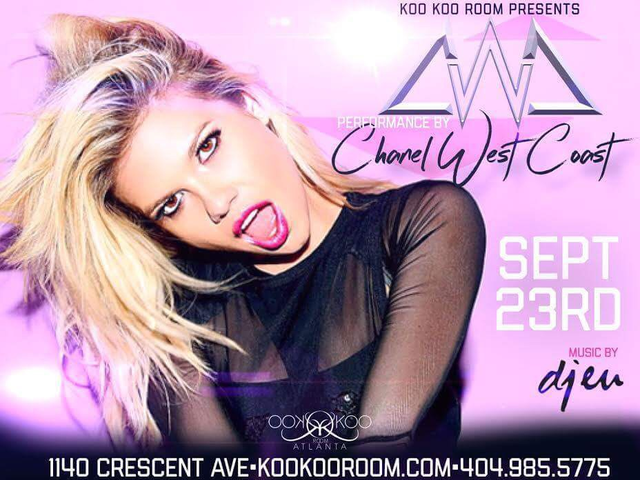"Chanel West Coast is scheduled to appear at Koo Koo Room in Atlanta on Friday, September 23rd. The charismatic rap diva will be performing her catalog of hits including recent singles ""The Life"" and ""Notice"" off her upcoming EP. Prior to the concert, tune into Hot 107.9at 7pmto hear Chanel live on The Durtty Boyz Show. [LISTEN TO ""THE LIFE"" FT ROCKIE FRESH] [LISTEN TO ""NOTICE"" HERE]"