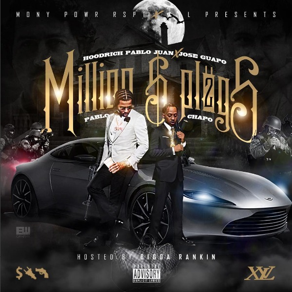 "Bigga Rankin hosts Jose Guapo and Hoodrich Pablo Juan's ""Million Dollar Plugs 2"" mixtape. The 12-track project features guest spots from Blac Youngsta, Marqo 2 Fresh, and Drugrixh Peso, with whom Juan recently released the collaborative mixtape ""MONY POWR RSPT World."" On the production side, Jose and Juan recruited two outside-the-box foreign tastemakers in Ryan Hemsworth and Brodinksi, as well as the down-the-middle trap stylings ofMetro Boomin,808 Mafia, Murda Beatz and Danny Wolf. [DOWNLOAD ON LIVEMIXTAPES HERE] [DOWNLOAD ON MIXTAPES HERE] [DOWNLOAD ON SPINRILLA HERE]"