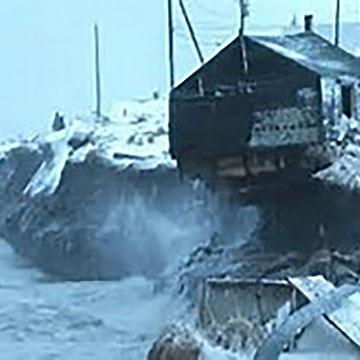 Rising seas, Kivalina Native Village, Alaska.