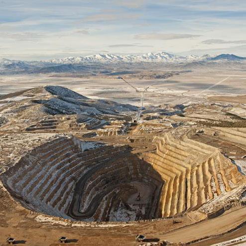Cortez open pit goldmine.