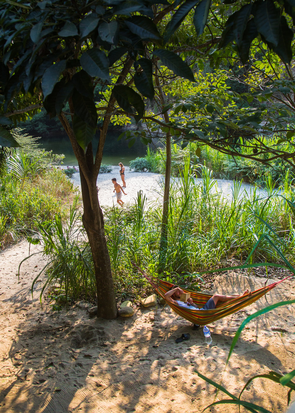 Our private beach on the Buritaca River.